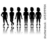 boy silhouette in different... | Shutterstock .eps vector #645399904