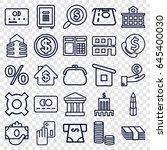 bank icons set. set of 25 bank... | Shutterstock .eps vector #645400030