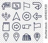 pointer icons set. set of 16... | Shutterstock .eps vector #645401920