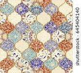 seamless ceramic tile with... | Shutterstock .eps vector #645404140