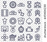 win icons set. set of 25 win... | Shutterstock .eps vector #645404230