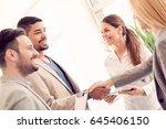 business handshake. business...   Shutterstock . vector #645406150