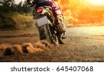man riding sport touring... | Shutterstock . vector #645407068