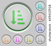 ascending ordered list mode... | Shutterstock .eps vector #645415918