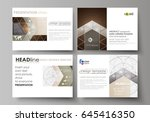 set of business templates for... | Shutterstock .eps vector #645416350
