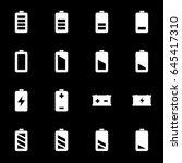 vector white battery icons set... | Shutterstock .eps vector #645417310