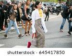 paris october 2  2016. street... | Shutterstock . vector #645417850