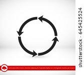 circular arrows vector icon ... | Shutterstock .eps vector #645425524