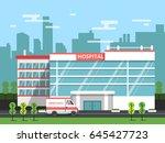 health center  exterior of... | Shutterstock .eps vector #645427723