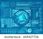 abstract future  concept vector ... | Shutterstock .eps vector #645427726