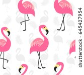 beautiful seamless pattern with ... | Shutterstock . vector #645427954
