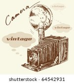 hand drawn old camera | Shutterstock .eps vector #64542931