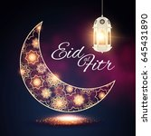 eid al fitr. islamic holiday.... | Shutterstock .eps vector #645431890