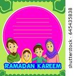 happy ramadan | Shutterstock .eps vector #645435838