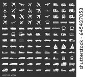 transportation icons vector | Shutterstock .eps vector #645437053