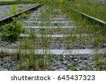 unused old railtrack | Shutterstock . vector #645437323