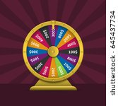 wheel of fortune. colorful... | Shutterstock .eps vector #645437734
