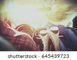 car trip and summer time  | Shutterstock . vector #645439723