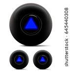 magic ball isolated on white.... | Shutterstock .eps vector #645440308