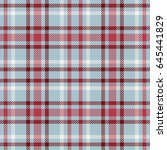 Blue Gray And Red Tartan...