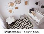 interior of light cozy baby... | Shutterstock . vector #645445228