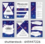 abstract vector layout... | Shutterstock .eps vector #645447226