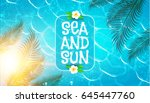 sea vacation. summer background.... | Shutterstock .eps vector #645447760