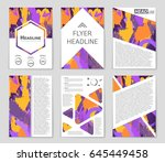 abstract vector layout... | Shutterstock .eps vector #645449458