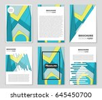 abstract vector layout... | Shutterstock .eps vector #645450700