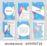 abstract vector layout...   Shutterstock .eps vector #645450718