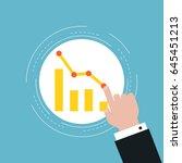 business graph statistics flat... | Shutterstock .eps vector #645451213