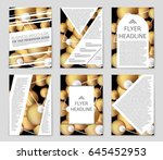 abstract vector layout... | Shutterstock .eps vector #645452953