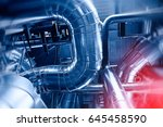equipment  cables and piping as ... | Shutterstock . vector #645458590