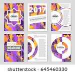 abstract vector layout... | Shutterstock .eps vector #645460330