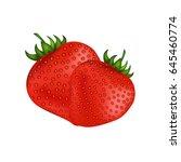 ripe fresh red strawberries... | Shutterstock .eps vector #645460774