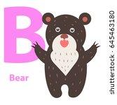 alphabet for children b letter... | Shutterstock .eps vector #645463180