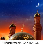 ramadan kareem background... | Shutterstock . vector #645464266