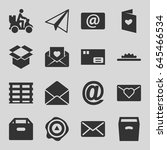 mail icons set. set of 16 mail... | Shutterstock .eps vector #645466534