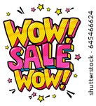 wow sale message in pop art... | Shutterstock .eps vector #645466624