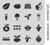 organic icons set. set of 16... | Shutterstock .eps vector #645466720