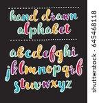 vector funny cartoon alphabet... | Shutterstock .eps vector #645468118
