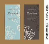 beautiful wedding invitations... | Shutterstock .eps vector #645471088