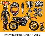 Set Of High Detailed Motocross...