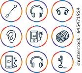 ear icons set. set of 9 ear... | Shutterstock .eps vector #645471934