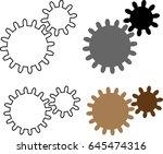 rotating cogwheel gear icon ... | Shutterstock .eps vector #645474316