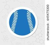 vector flat sticker baseball...   Shutterstock .eps vector #645475300