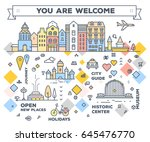 vector illustration of city... | Shutterstock .eps vector #645476770