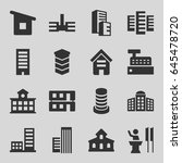 government icons set. set of 16 ... | Shutterstock .eps vector #645478720
