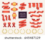 vector collection of decorative ... | Shutterstock .eps vector #645487129