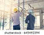 construction concepts  engineer ... | Shutterstock . vector #645492394